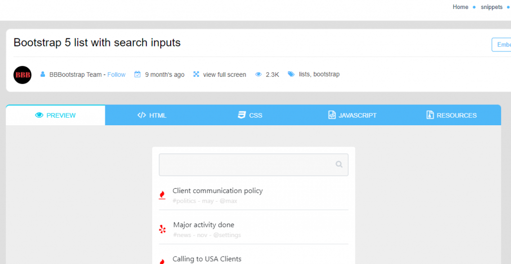 bootstrap search boxes